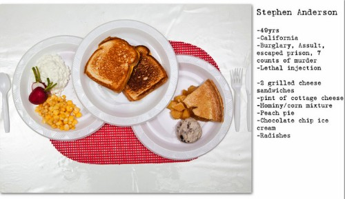 Recreations of Death Row Inmates' Last Meals