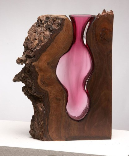 Artists Hand-Blow Molten Glass into Fallen Trees to Create Beautiful Sculptures