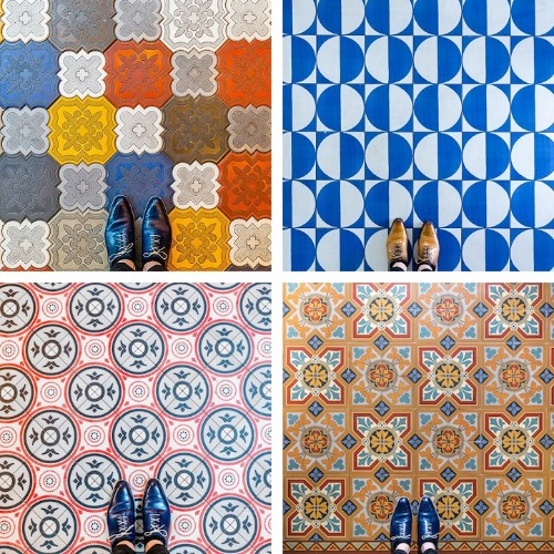 Colorful Photos Capture the Unique Floor Designs Found in Barcelona