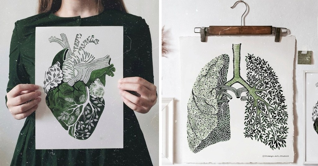 Exquisite Watercolor Paintings Imagine the Human Body Intertwined With Nature