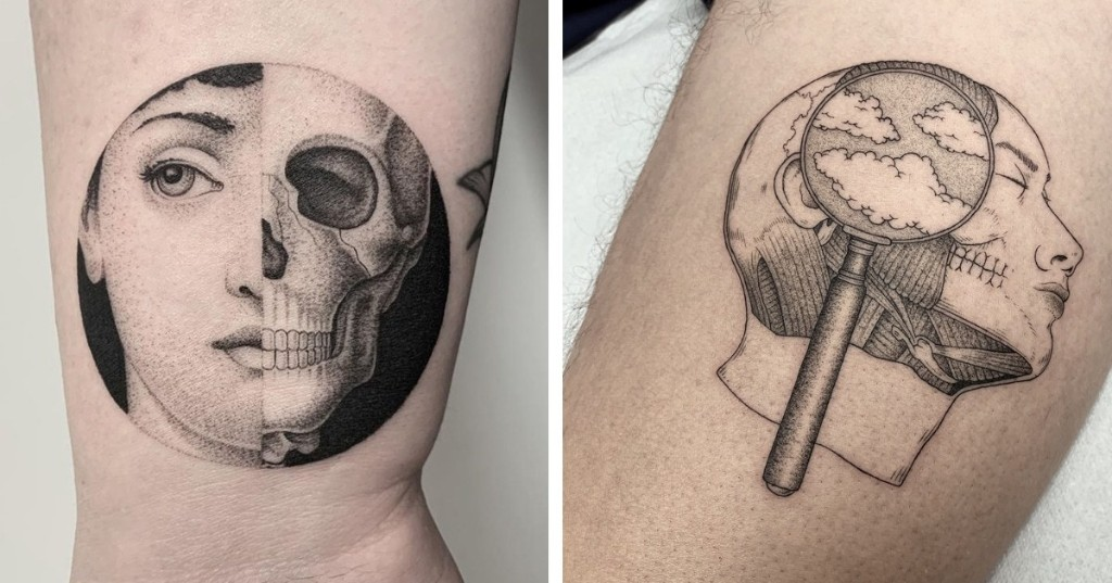 Surreal Fine-Lined Tattoos Inspired by Scientific and Strange Subjects