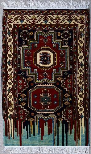 Ornate Carpets Recreated as Modern Sculptures