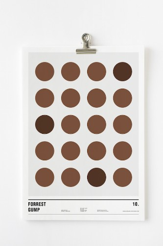 Using Only Circles, Famous Films are Cleverly Turned into Minimalist Posters