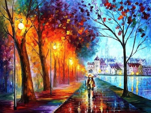 Textured Oil Paintings Reflect Romantic Memories in Rich and Exciting Bursts of Color
