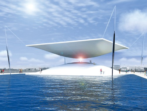 Striking Hourglass Installation Uses Solar Energy to Produce Electricity for 860 Homes