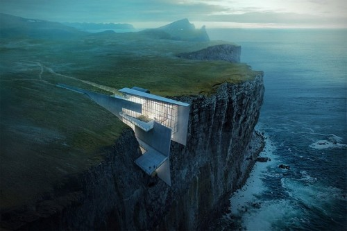 Breathtaking Architectural Concept for a Cliffside Retreat in Iceland