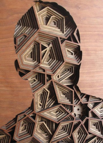 New Amazingly Intricate, Laser-Cut Wood Relief Silhouettes by Gabriel Schama