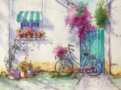 Watercolor Paintings Capture the Captivating Colors of Springtime in California