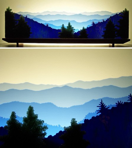 Rearrangeable Layers of Glass Form Stunning 3D Landscapes and Seascapes