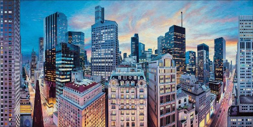 Interview: Photorealistic Paintings Put You at the Center of Cities Around the World