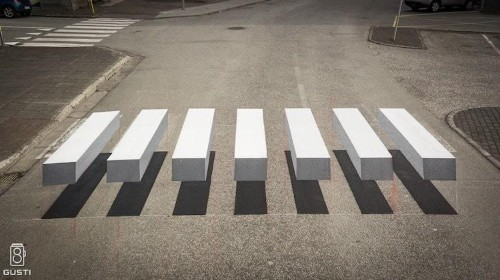3D Crosswalk in Iceland is a Stunning Optical Illusion