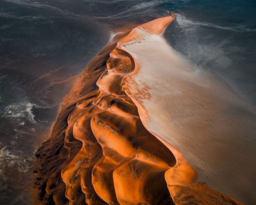 Stunning Aerial Photos of Namibia's Desert Landscape Look Like Abstract Paintings