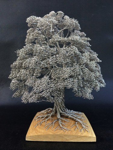 Artist Tightly Winds Wire to Create Beautiful Tree Sculptures Without Adhesives