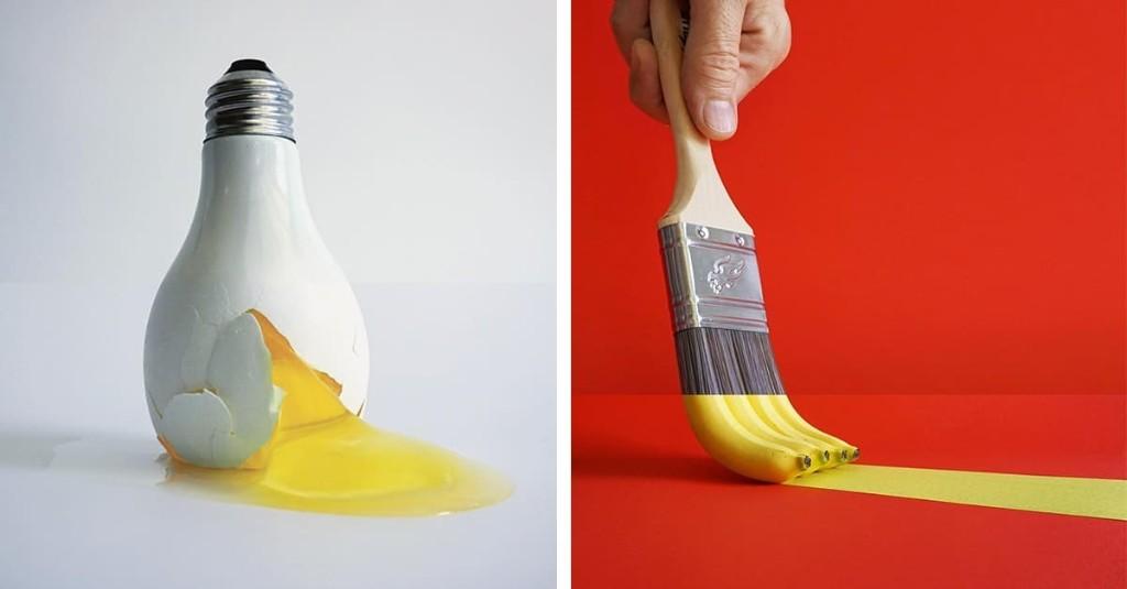 Ingenioso artista empareja objetos completamente diferentes para crear combinaciones inesperadamente perfectas
