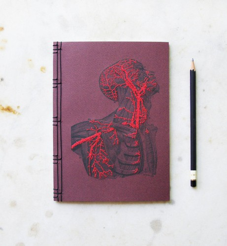 Hand-Crafted Notebooks Combine Beautiful Embroidery with Scientific Illustrations