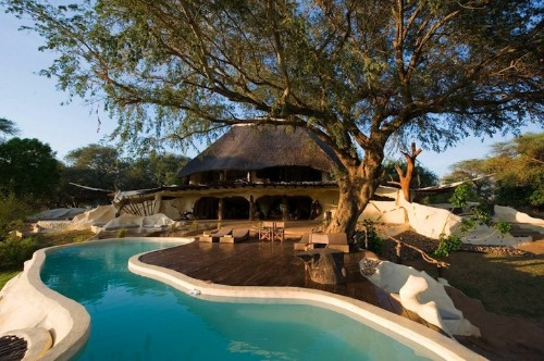 Observe Wild Elephants Herds at This Stunning African Villa