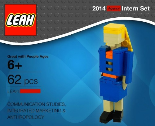 Young Intern Sets Herself Apart with LEGO Model Resume