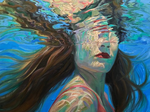 Breathtaking Oil Paintings Capture Moments of Tranquility Below the Water's Surface