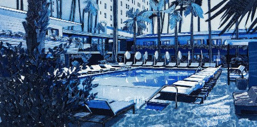 Artist Recreates California's Chill Vibes and Summer Blues with Denim