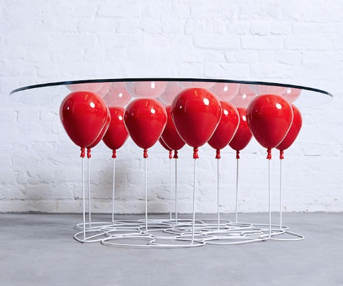 Playful Coffee Table Creates the Illusion That It's Held up by Balloons