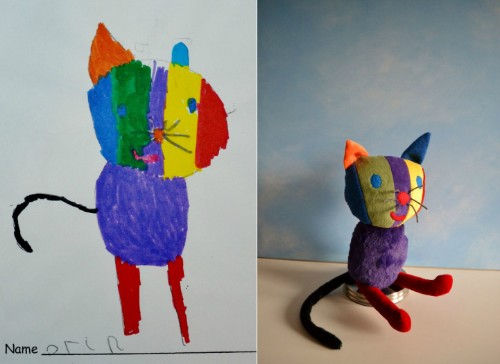 Artist Transforms Children's Drawings into Adorable Plush Toys
