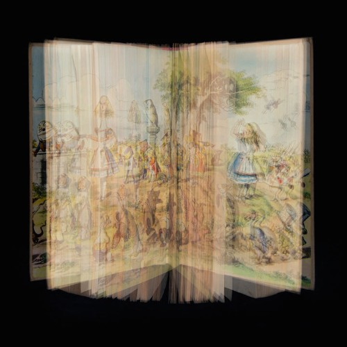 Blended Images of Classic Books Give the Magical Stories New Life