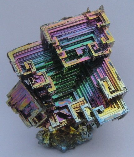 Dazzling Bismuth Crystals Look Like Hypnotizing Rainbow Stairs