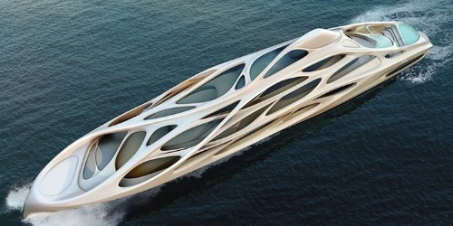 Dynamic Modern Superyachts by Zaha Hadid