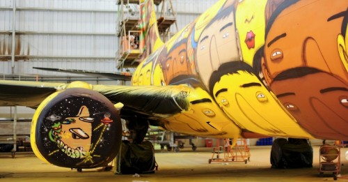 Os Gmeos Designs Brazil's Airplane for the World Cup