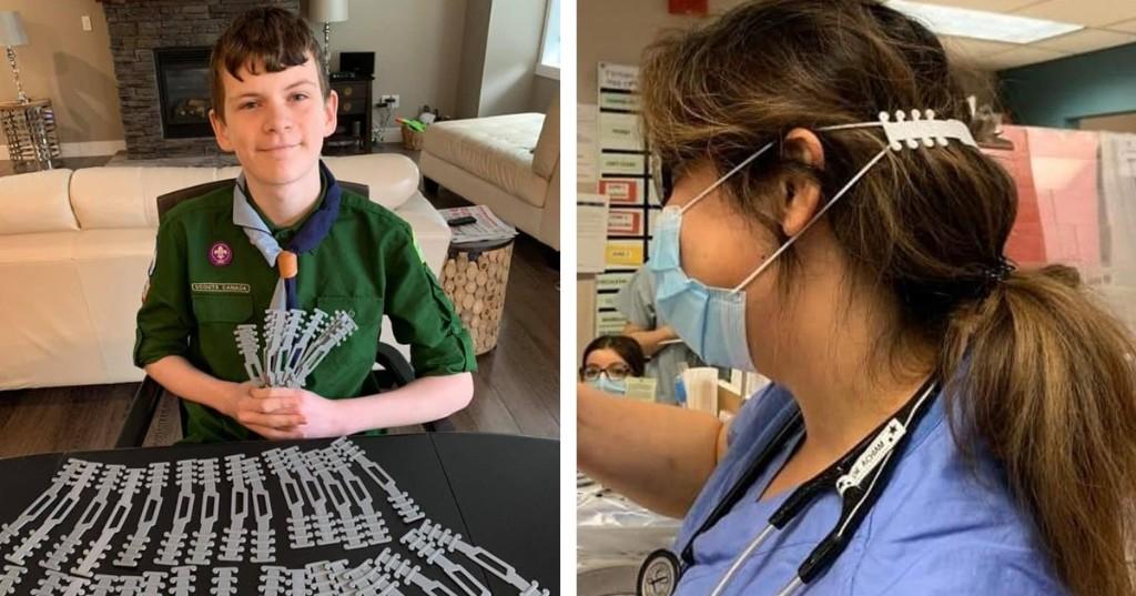 Boy Scout crea 'protectores de orejas' impresos en 3D para aliviar el dolor por el uso de mascarillas