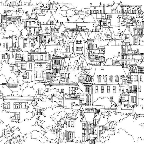 Fantastic Cities: An Exquisite Architectural Coloring Book for Creative, Stressed-Out Adults