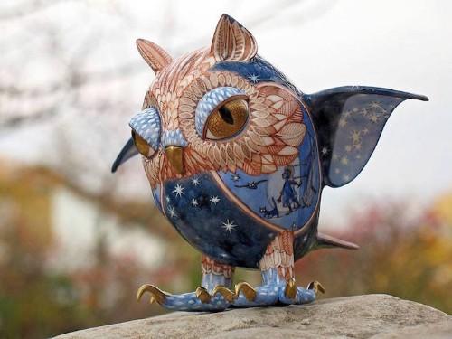 Fantastical Creatures Adorned with Ornate Sculptural Details