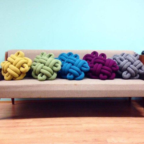 Colorfully Crafted Knot Cushions You Can Easily Reshape
