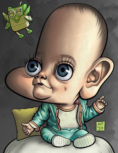 Husband Commissions 23 Artists to Surprise His Wife with Portraits of Their Baby