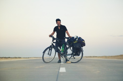 One Man's 40,000km Journey Across the World By Bicycle