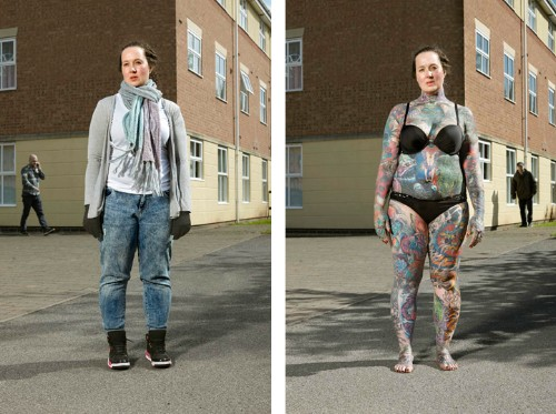 Revealing Portraits of Heavily Tattooed People Who Normally Cover Their Whole Bodies