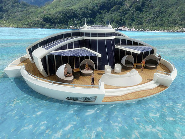 Solar-Powered Floating Resort is an Off-Shore Aquatic Escape