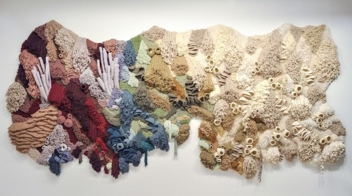 Artist Uses Recycled Textile Waste to Handcraft Ocean-Inspired Rugs and Tapestries