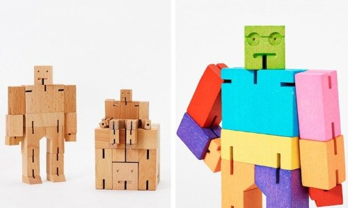 Adorable 'Cubebot' Puzzle Puts a Fun Twist on Traditional Wooden Toys