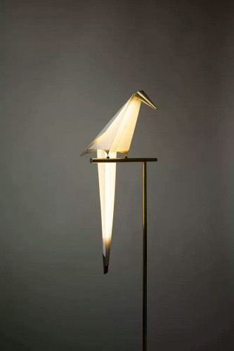 Playfully Interactive Light Shaped Like an Abstract Bird
