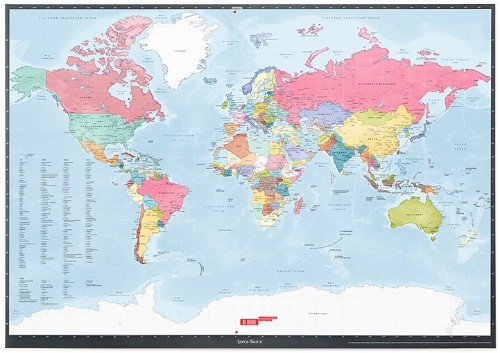 Scratch-Off World Map is a Unique Way to Document Your Travels