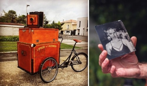 Photographer Turns Tricycle into Portable Wet Plate Photo Darkroom
