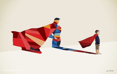 Colorful Shadow Figures Reveal the Superhero within Every Child's Imagination