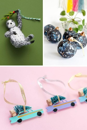 30 Creative Christmas Ornaments to Trim Your Tree in Style