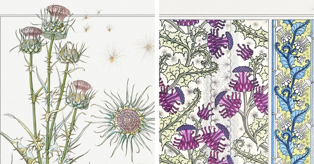 Exquisite Instructional Book From 1896 Illustrates How Flowers Become Art Nouveau Designs