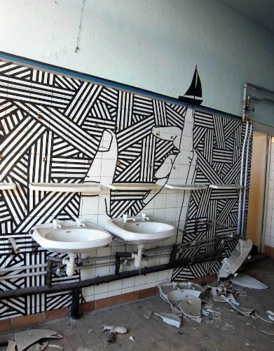 Eye-Popping Works of Street Art Made Using Masking Tape