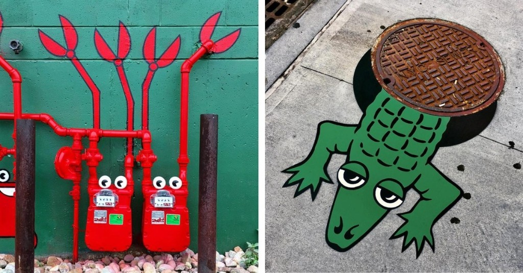 Clever Street Artist Is Transforming NYC's Streets into One Giant Playground