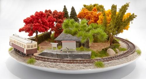 Japanese 'Bonrama' Art Turns Beautiful Bonsai into Tiny Countryside Dioramas