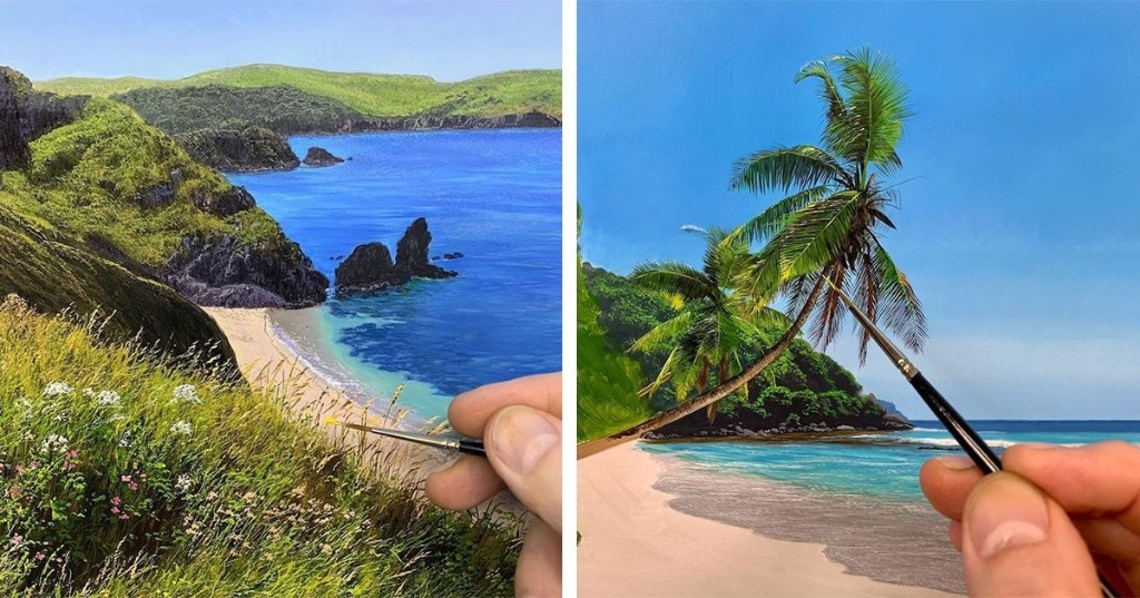 Bucolic Landscape Paintings Look So Lifelike That You'll Think They Are Photos