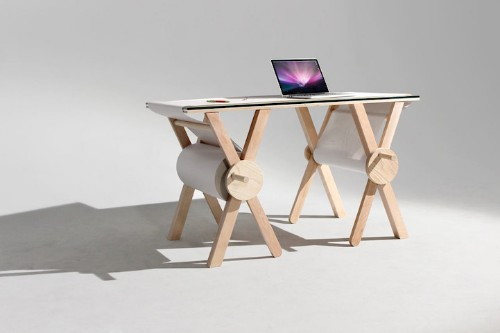 This Desk Features 1,100 Yards of Scrolling Paper to Record Your Ideas